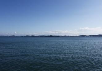 瀬戸内海がきれいな東の海岸線