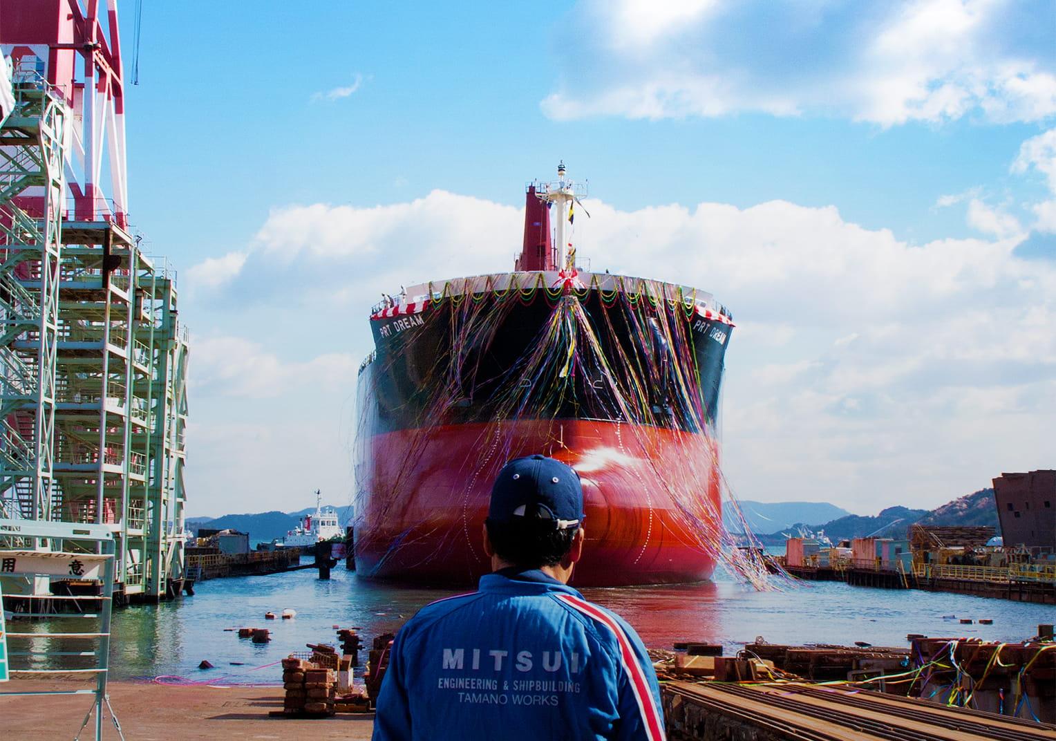 三井造船進水式