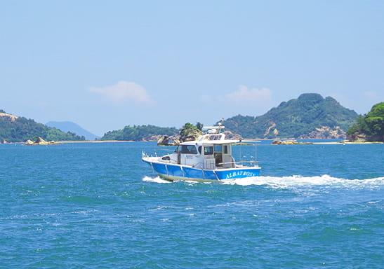 瀬戸内海を疾走する海上タクシー