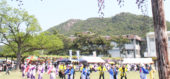 渋川公園でおどる地味との踊り連