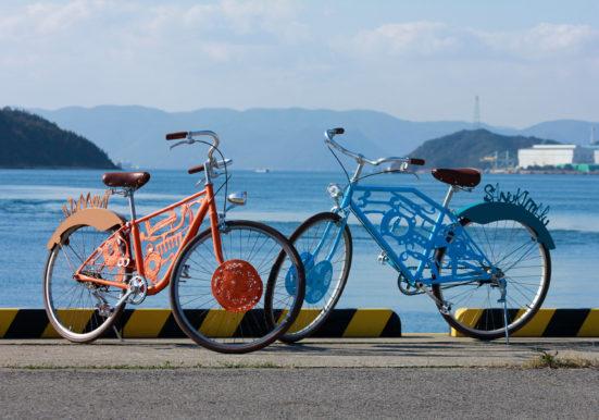 アート化された自転車