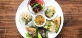 月日のボリューム満点・お野菜満点のランチプレート